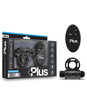 Performance Plus Thunder Vibrating Cock Ring - Black