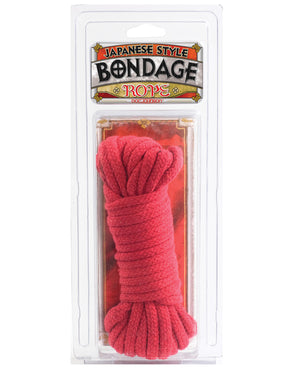 Japanese Style Bondage Cotton Rope - Red