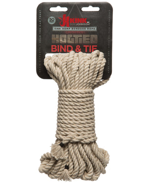 Kink Bind & Tie Hemp Bondage Rope - 50 Ft