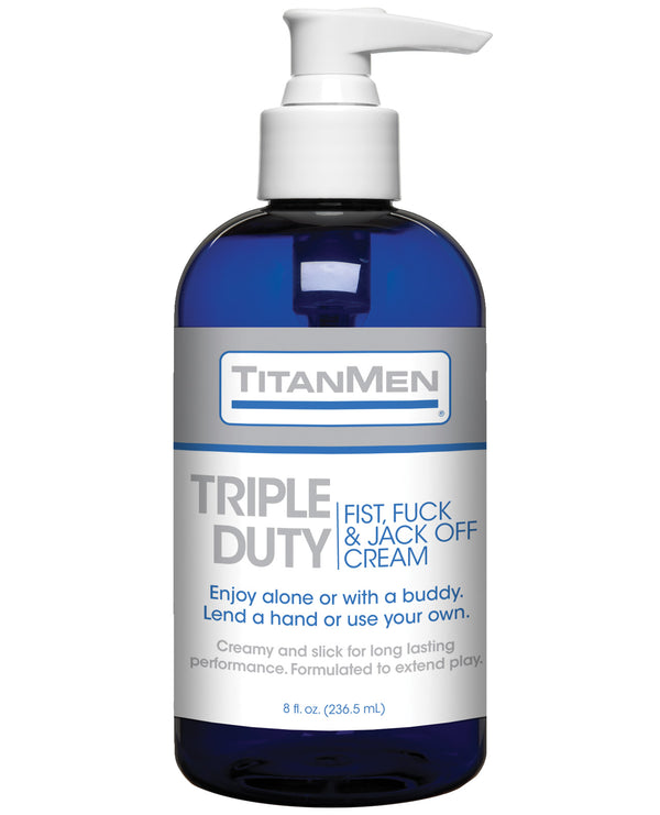 Titanmen Tripple Duty Fist, Fuck & Jack Off Cream - 8 Oz Bottle