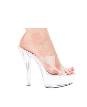 "Ellie Shoes Vanity 6"" Pump 2"" Platform Clear Nine"