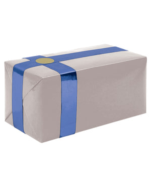 Gift Wrapping For Your Purchase(silver W-blue Ribbon)-extra Day To Ship