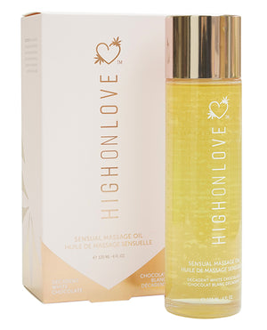 High On Love Hemp Massage Oil - Decadent White Chocolate