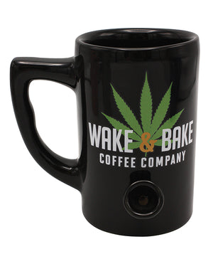 Wake & Bake Coffee Mug - 10 Oz Black