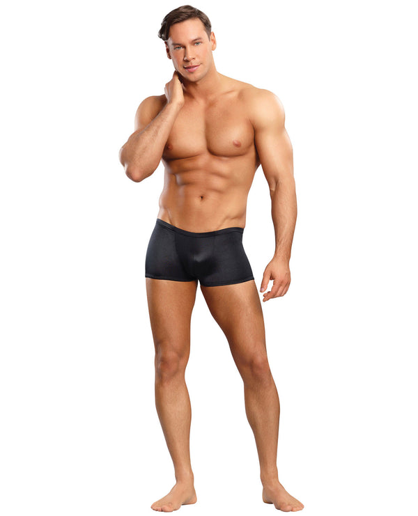 Male Power Satin Lycra Boxer Black Medium