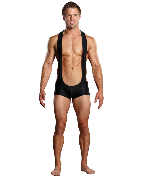 Male Power Sling Short Black L-xl