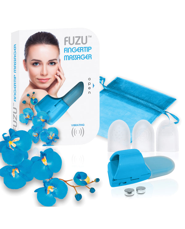 New Fuzu Fingertip Massager - Neon Blue