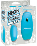 Neon Luv Touch Bullet - 5 Function Blue