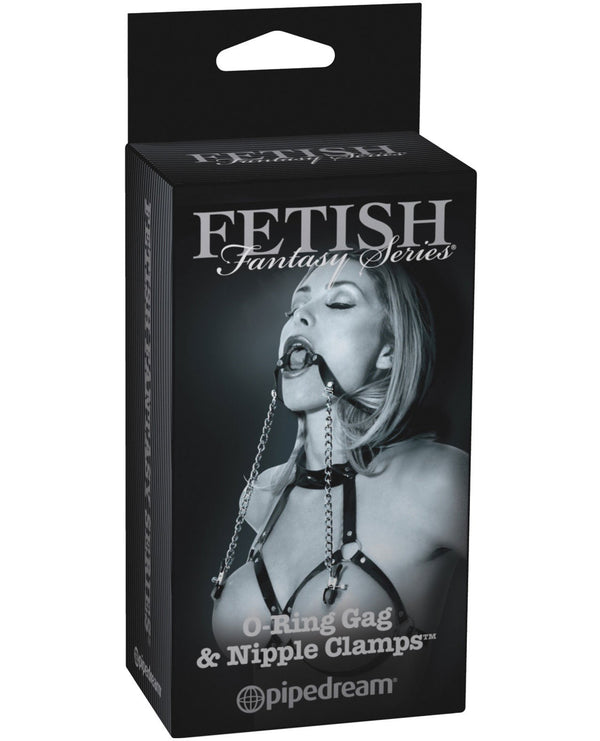 Fetish Fantasy Limited Edition O-ring Gag & Nipple Clamps