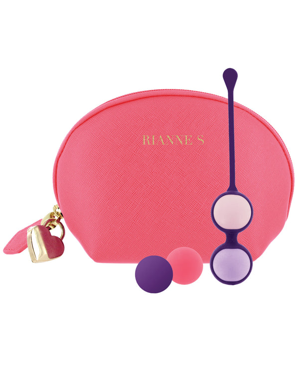 Rianne S Pussy Playballs W-cosmetic Case - Coral Rose