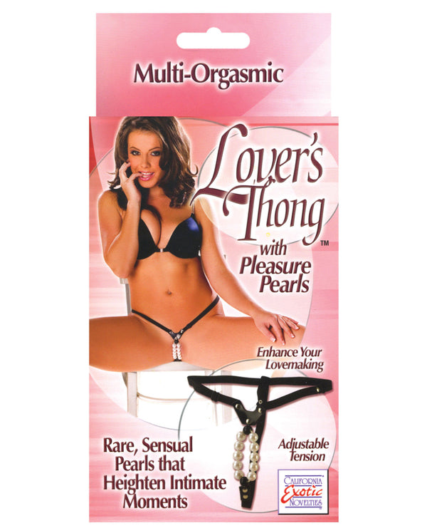 Lover's Thong W-pleasure Pearls