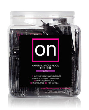 On For Her Arousal Oil Ultra - Tub Of 75 Single Use Ampoule