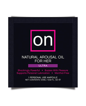 On For Her Arousal Oil Ultra - Single Use Ampoule