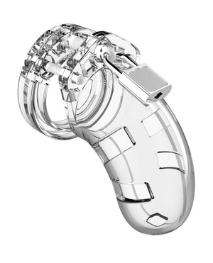 "Shots Man Cage Chastity 3.5"" Cock Cage Model 1 - Clear"