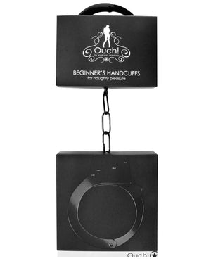 Shots Ouch Beginner Handcuffs - Black