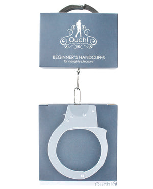 Shots Ouch Beginner Handcuffs - Metal