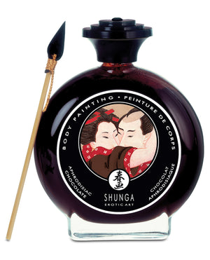 Shunga Edible Body Paint - 3.5 Oz Aphrodisiac Chocolate
