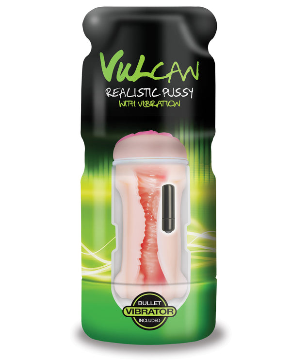 Vulcan Realistic Pussy W-vibration - Cream