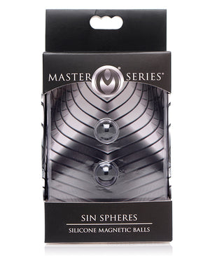 Master Series Sin Spheres Silicone Magnetic Balls - Black