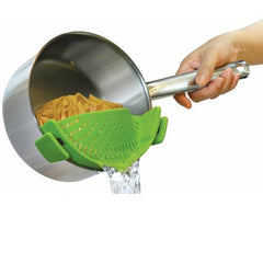 Silicone Clip-On Strainer With Anti-Spill