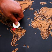 World Scratch OFF Map Black And Gold