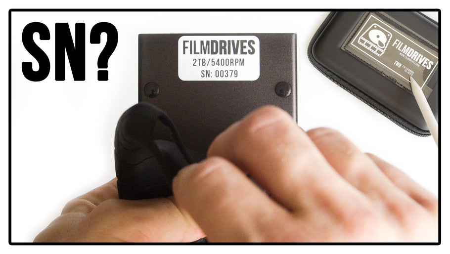 WHERE DO I FIND MY FILM DRIVES 'SERIAL NUMBER'?