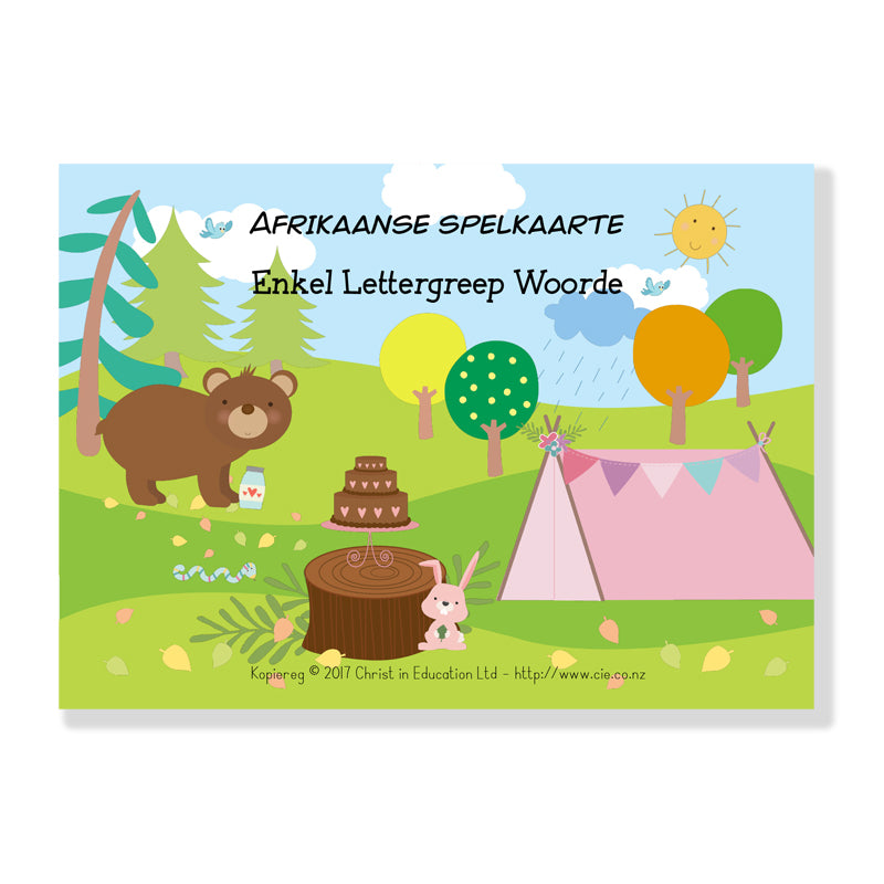 Afrikaans Spelling Cards - One Syllable