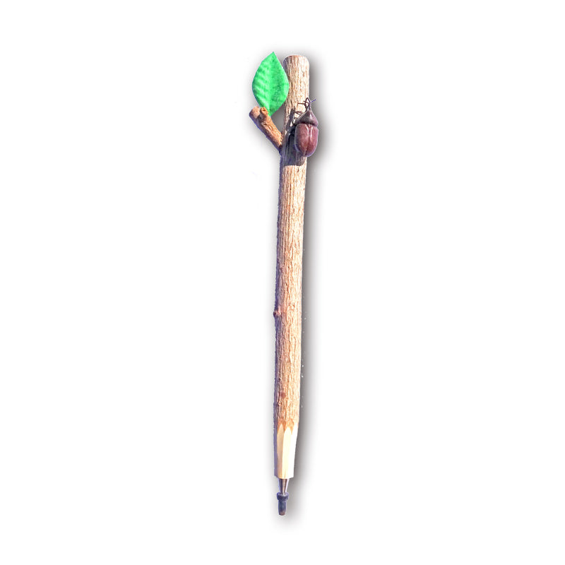 Twig Pen with Brown Beetle Attached!