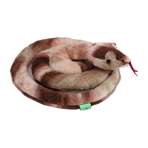 Snake Soft Toy (Beige/Brown)