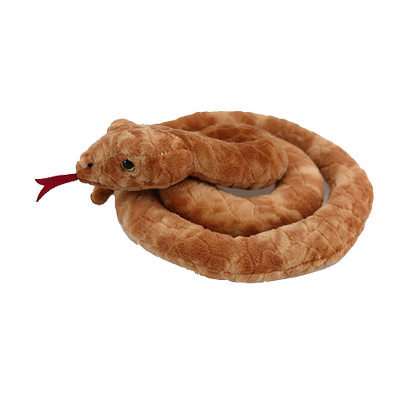 Snake Soft Toy (Orange/Brown)