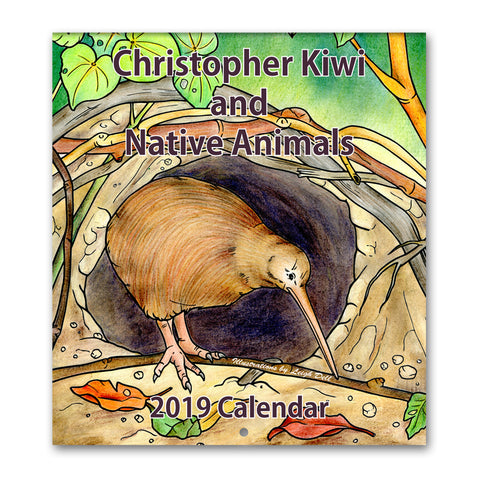 2019 Christopher Kiwi and Native Animals Wall Calendar