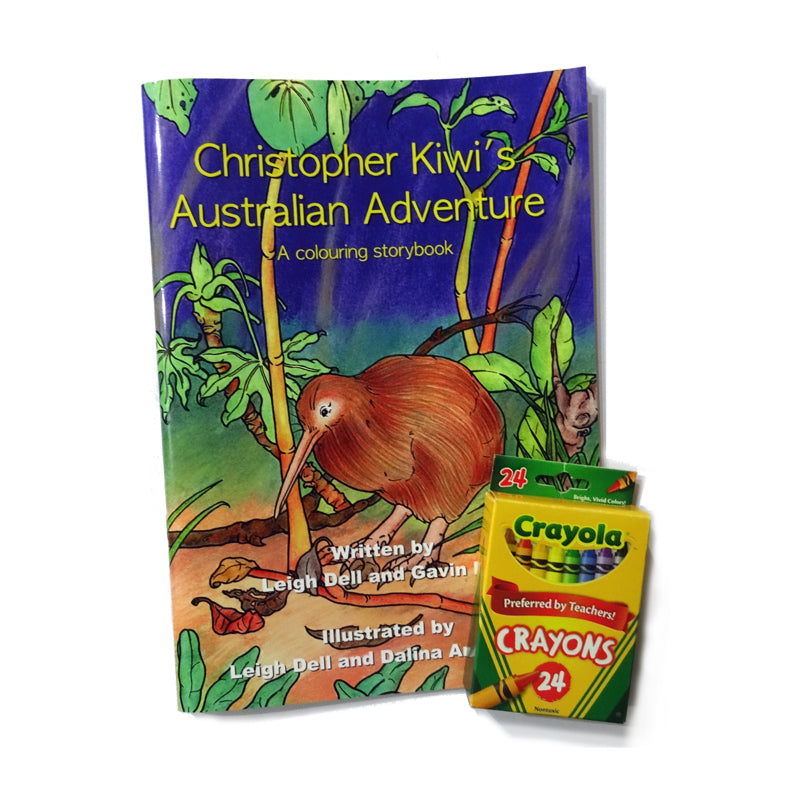 Christopher Kiwi Australian Adventure Gift Pack with Crayons