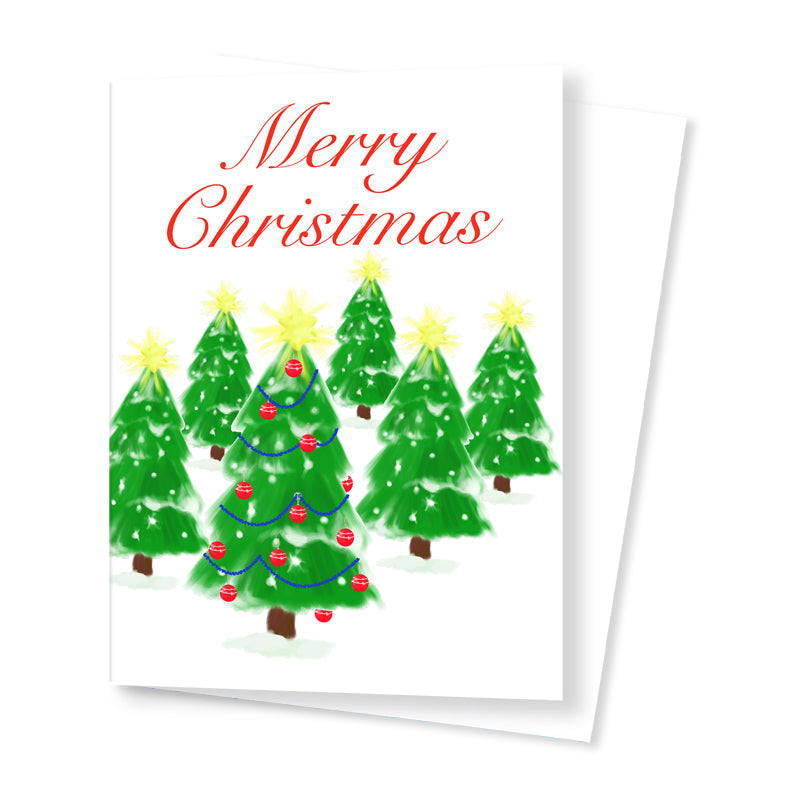 'Christmas Trees' Card