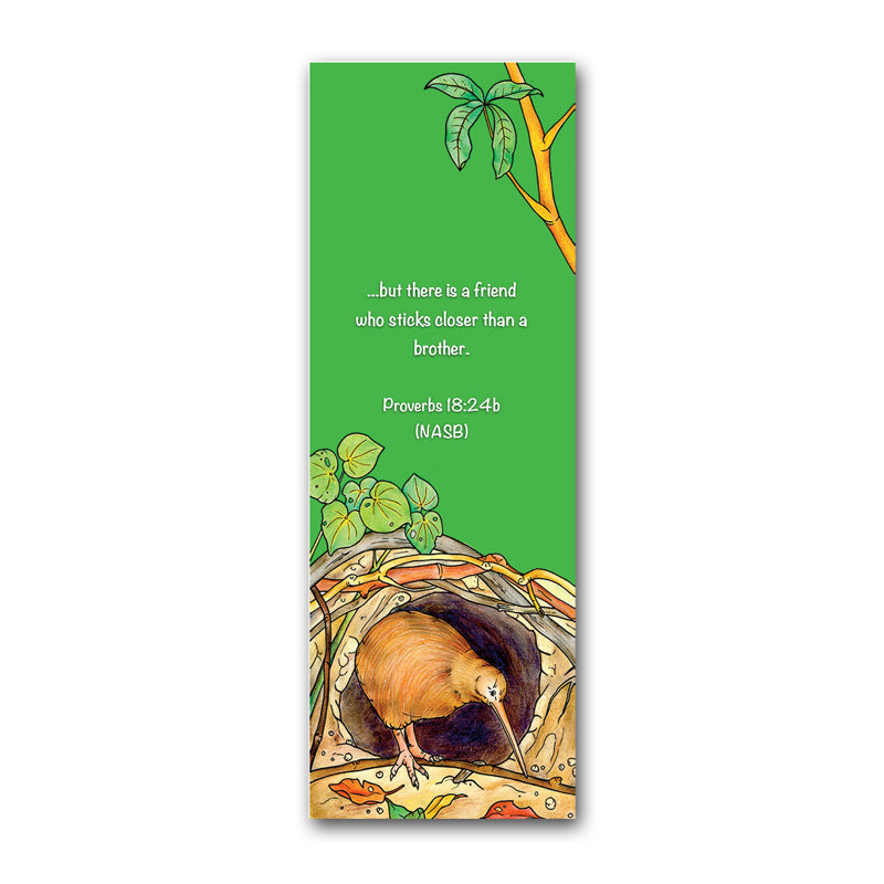 Christopher Kiwi New Zealand Adventure Bookmark