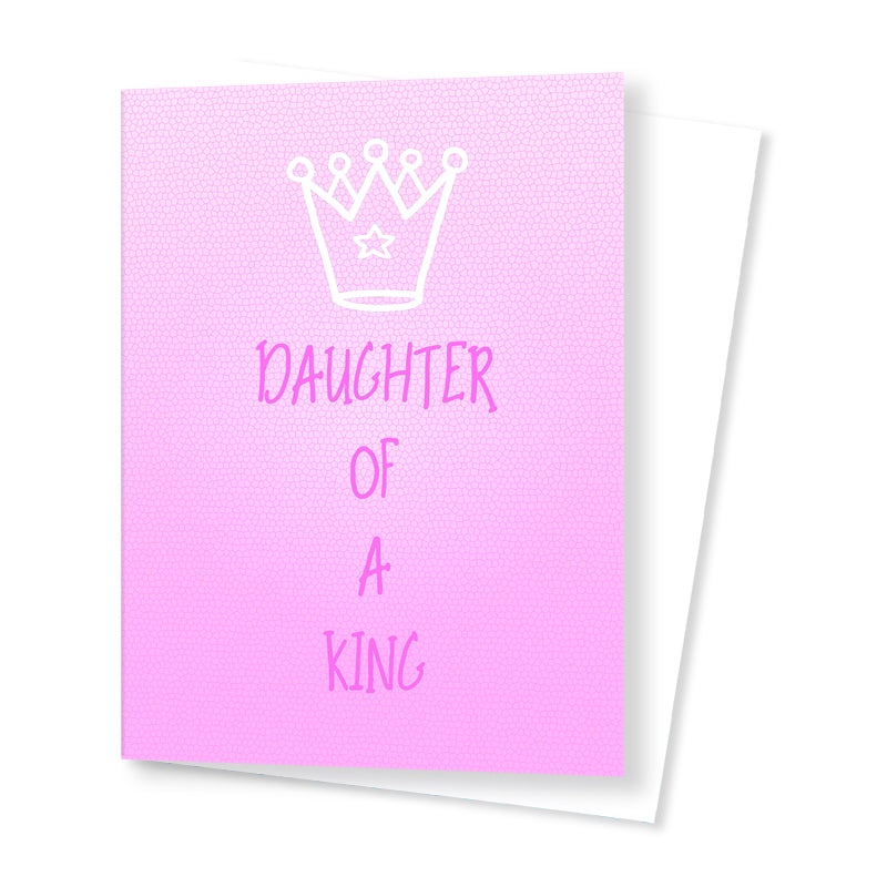 'Daughter of a King' Card - Pink