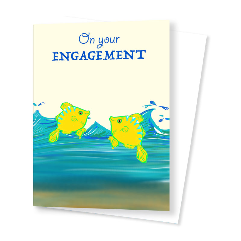 'Two fiishes' Engagement Card