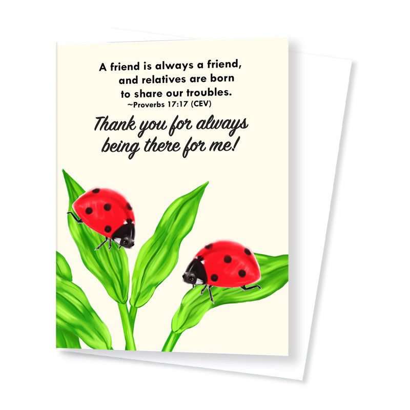 Thank You Card (Ladybird)