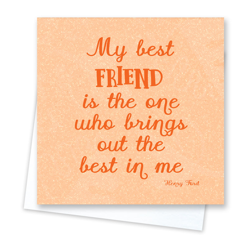 Best Friend Card