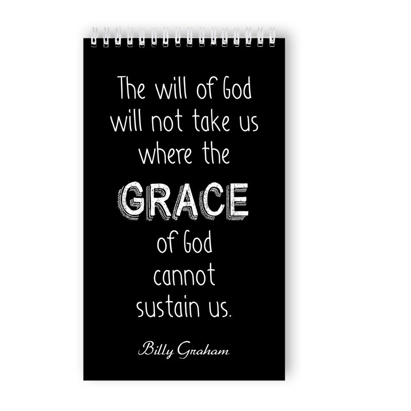 Ring-bound 'God's Grace' Notebook - 50 Unlined Pages