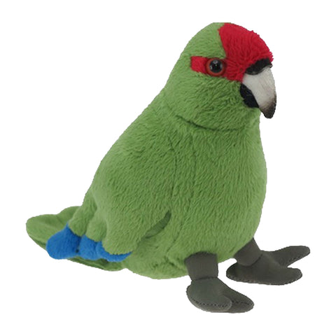 Red Crowned Parakeet Soft Toy with Sound (15 cm)
