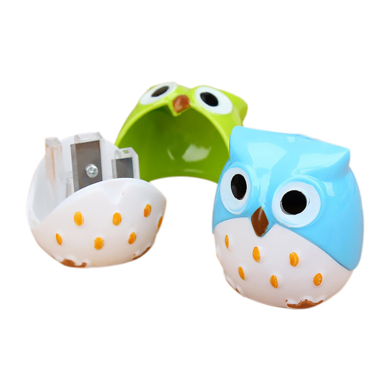 Colourful Owl Pencil Sharpener - Blue
