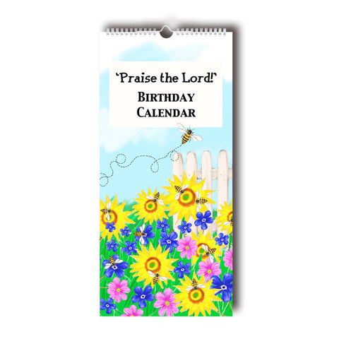 'Praise the Lord' Perpetual Birthday Calendar