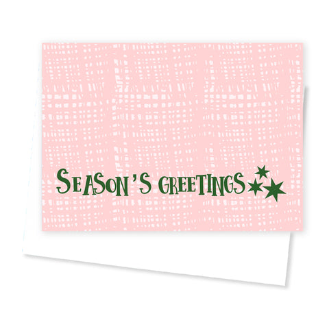 'Seasons Greetings' Christmas Card - Orange