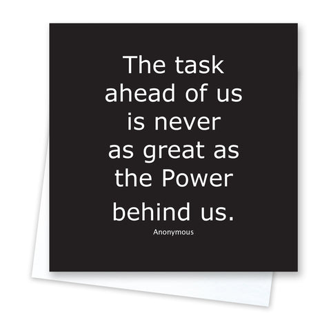 Quotable Quotes - Power Behind Us Card