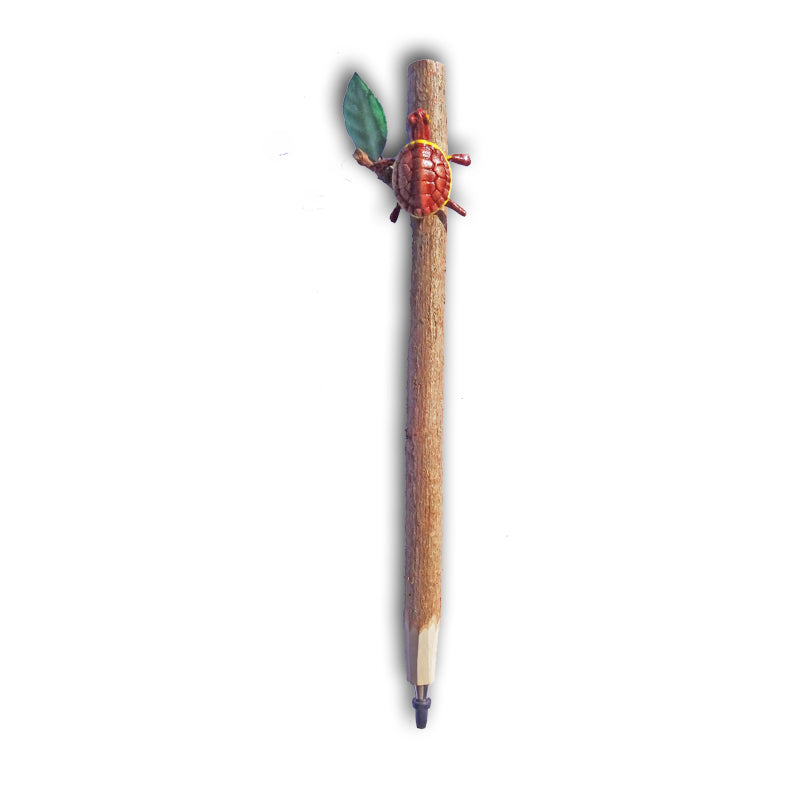 Twig Pen with Tortoise Attached