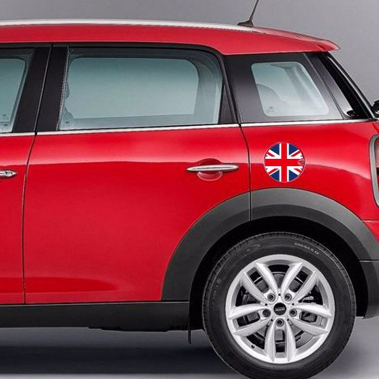 1PC 180*180mm PVC Mini Cooper F55 F56 Car Petrol Diesel Fuel Tank Cap Gas Cover Vinyl Sticker Decal British UK Flag