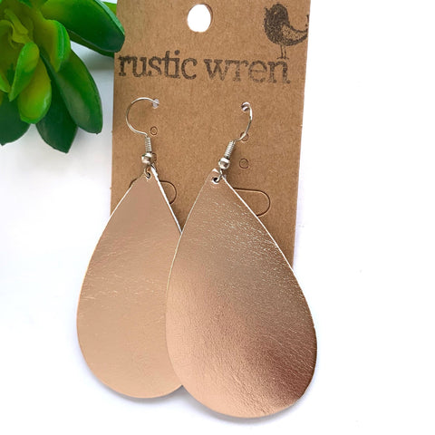 Rose Gold Teardrop - Rustic Wren
