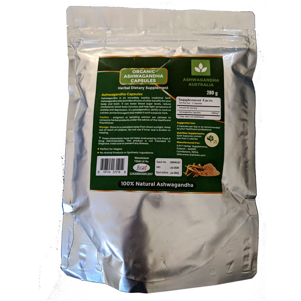 Ashwagandha Powder in Vegetable Capsules
