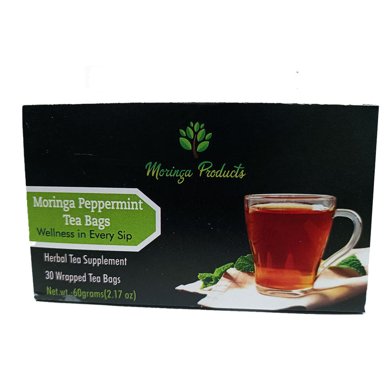 Moringa Peppermint Tea Bags