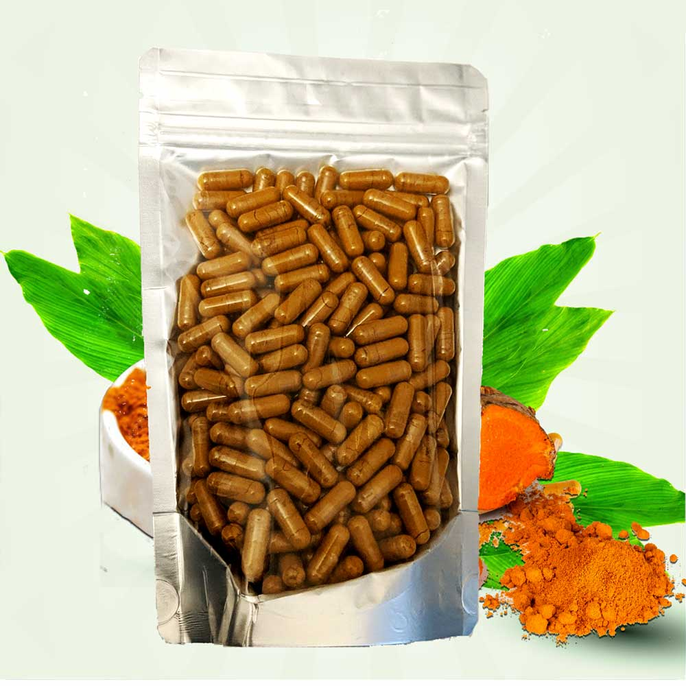 Turmeric Powder in Vegetable Capsules 140gm